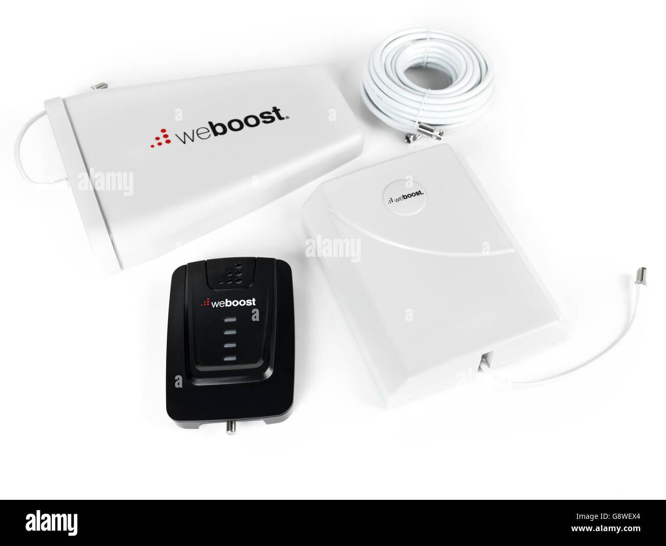 Wilson Electronics WeBoost Connect 4G teléfono celular red inalámbrica y señal de internet Booster Imagen De Stock