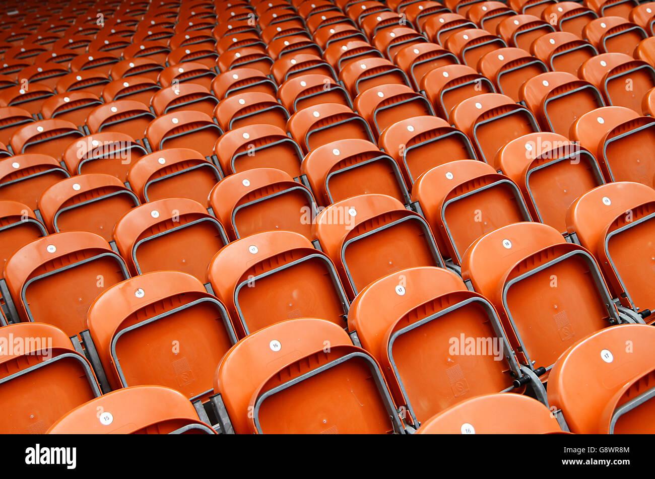 Blackpool v Colchester United - Sky Bet Liga Uno - Bloomfield Road Imagen De Stock