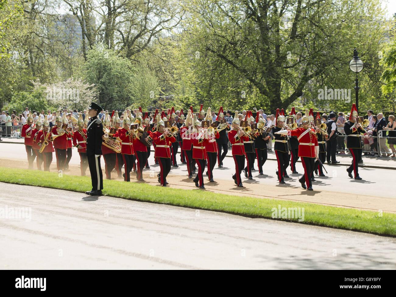 Asociación de antiguos camaradas de Caballería combinada Desfile Anual Hyde Park Imagen De Stock