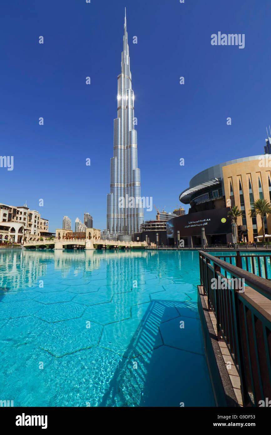 Burj Khalifa, Dubai-EAU-1 Foto de stock