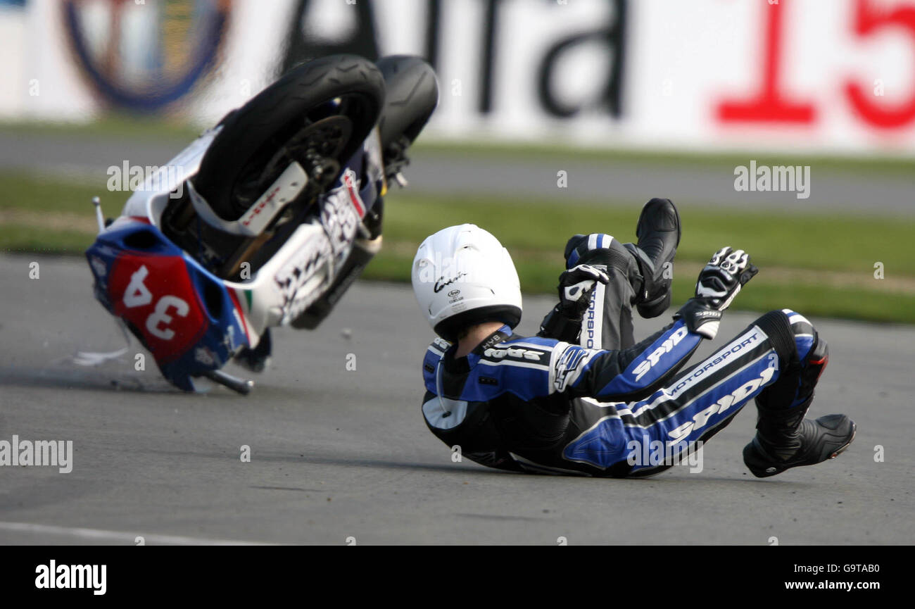 - Motociclismo Superstock 1000 FIM Cup - Donington Park Foto de stock