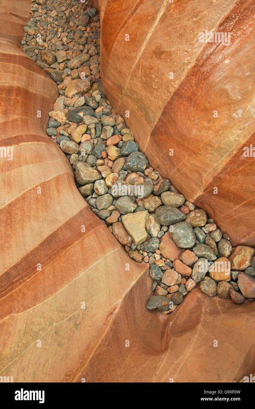 Las formaciones geológicas en el Parque Estatal Valle del Fuego, Nevada, Estados Unidos, abril de 2013. Imagen De Stock