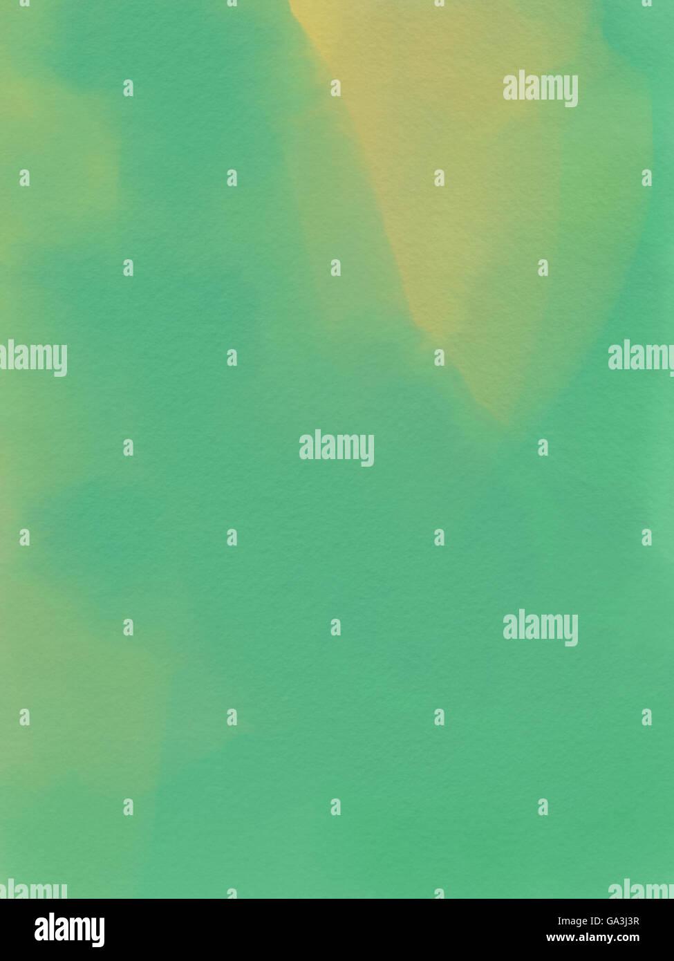 Acuarela abstracto - Fondo Verde y amarillo. Imagen De Stock