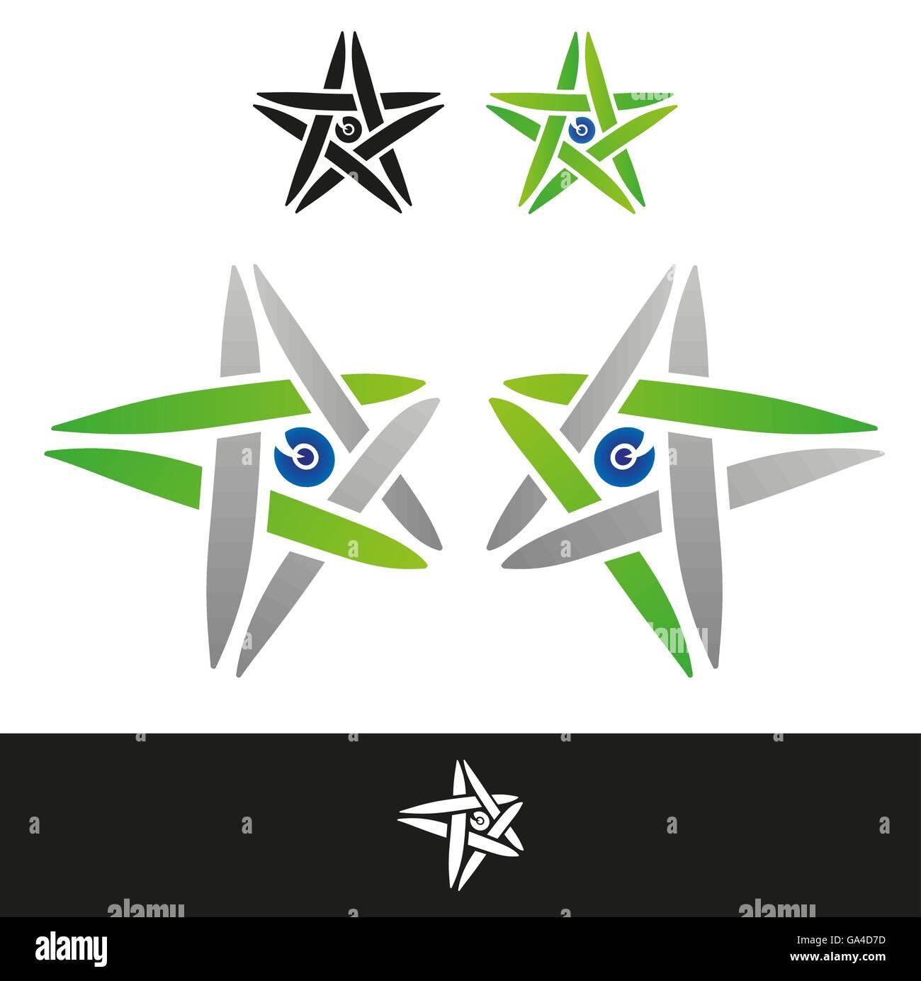 Trenzado verde signo Imagen De Stock