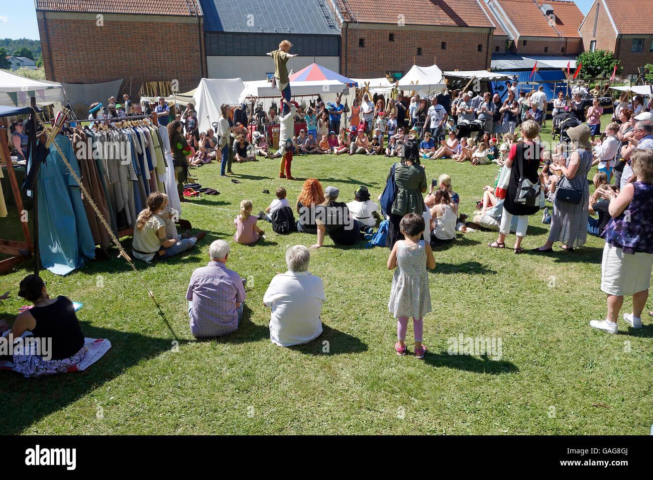 Fin de semana de verano local justo en Suecia Imagen De Stock