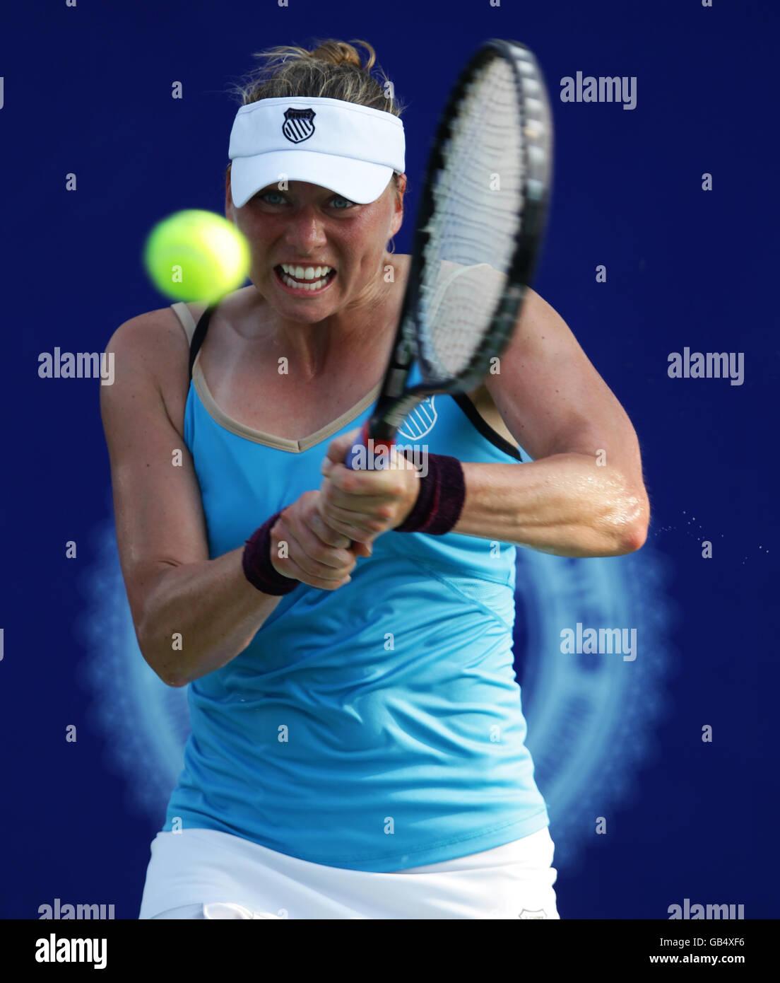La tenista rusa Vera Zvonareva, PTT Pattaya Open 2011, Torneo de Tenis de la WTA, Series Internacionales, Dusit resort Pattaya. Foto de stock