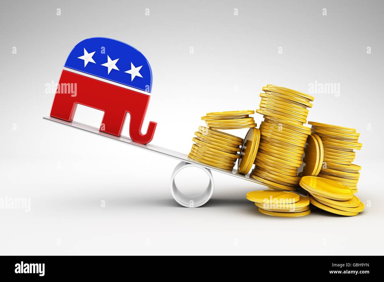 Política y dinero. Imagen De Stock