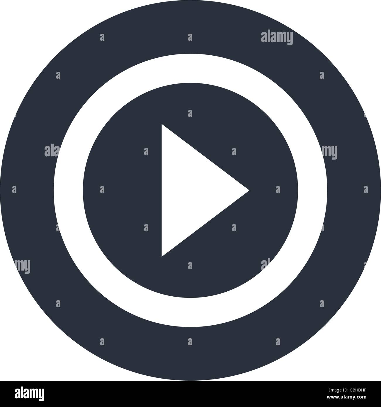1a13099c06 Símbolo de reproducir, video y diseño multimedia Ilustración del ...