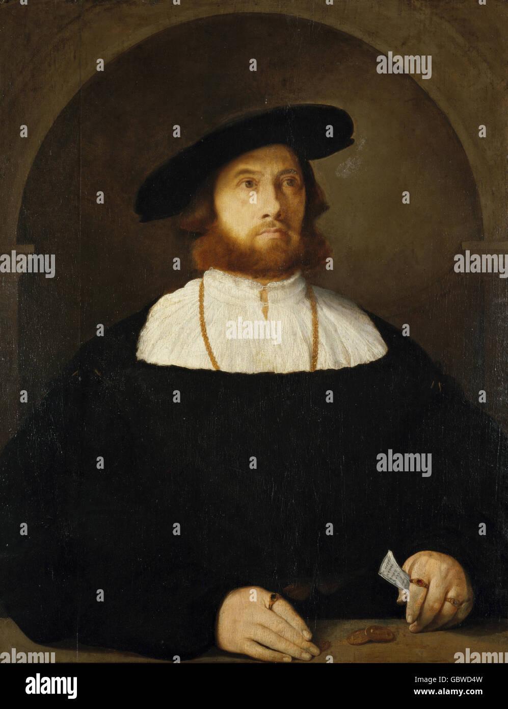 64d8a3291ea Personas, hombres, de un hombre, probablemente un comerciante de longitud  media, pintura anónima, 15 / siglo xvi, Renacimiento, Barroco, moda, hombres,  ...