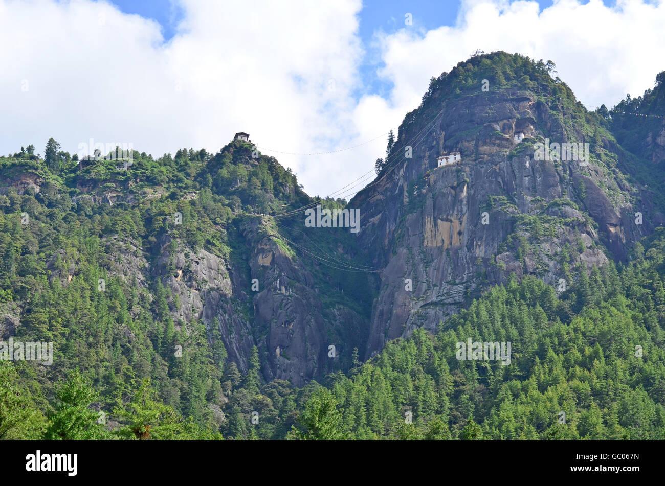 Magnífico Monasterio Taktsang en Bhután Imagen De Stock