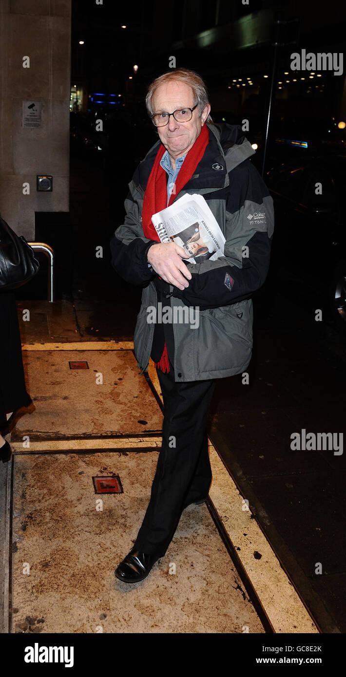 Ken Loach en una recaudación de fondos de Madeleine McCann celebrada en los Jardines del Techo en Londres, exactamente 1.000 días después de que Madeleine McCann desaparecida. Foto de stock