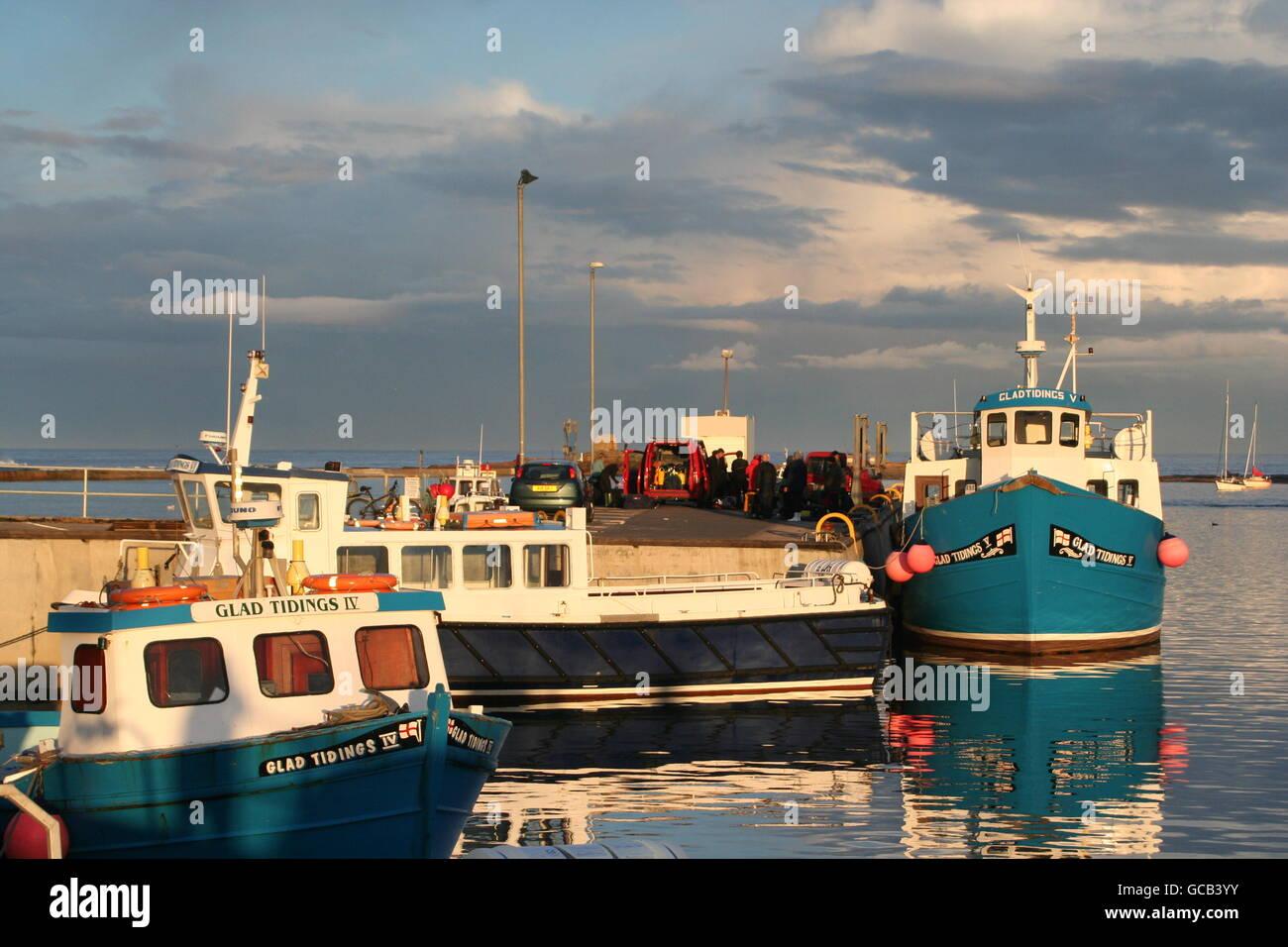 Seahouses Harbour Foto de stock