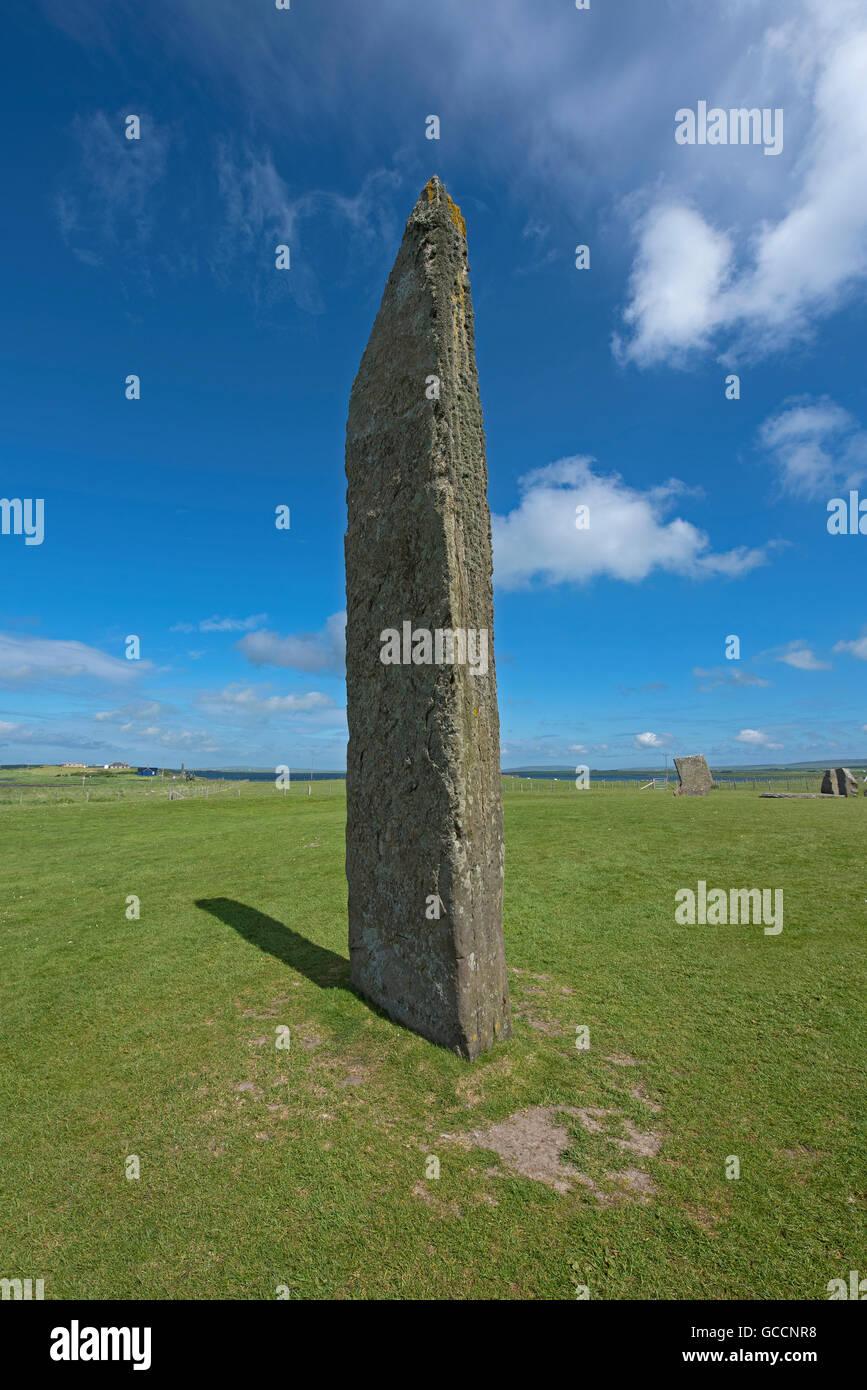 Sternness Standing Stones dentro del sitio del Patrimonio Mundial de la UNESCO, Heart of Neolithic Orkney. 10,590 Foto de stock