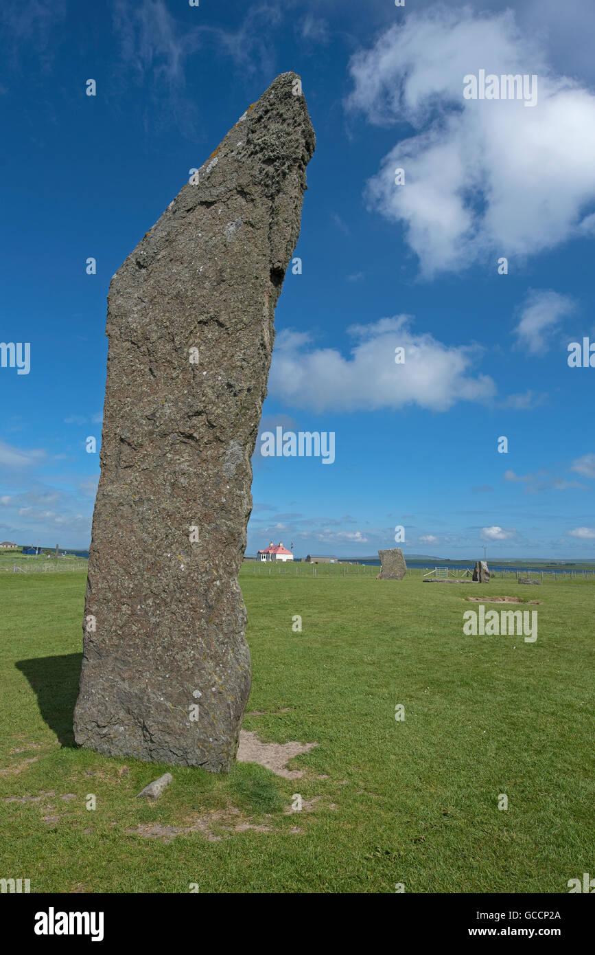 Sternness Standing Stones dentro del sitio del Patrimonio Mundial de la UNESCO, Heart of Neolithic Orkney. 10,591. Foto de stock
