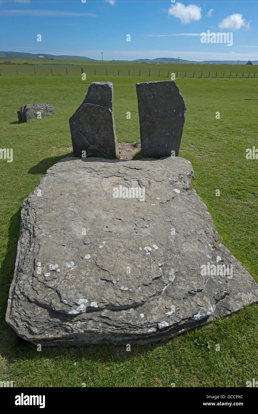 El Neolítico de piedras de Sternness permanente en la parte continental de las Islas de Orkney SCO 10,595. Foto de stock