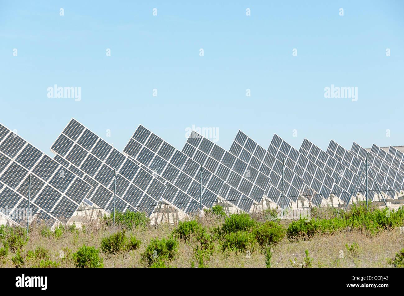 Paneles Solares - España Imagen De Stock