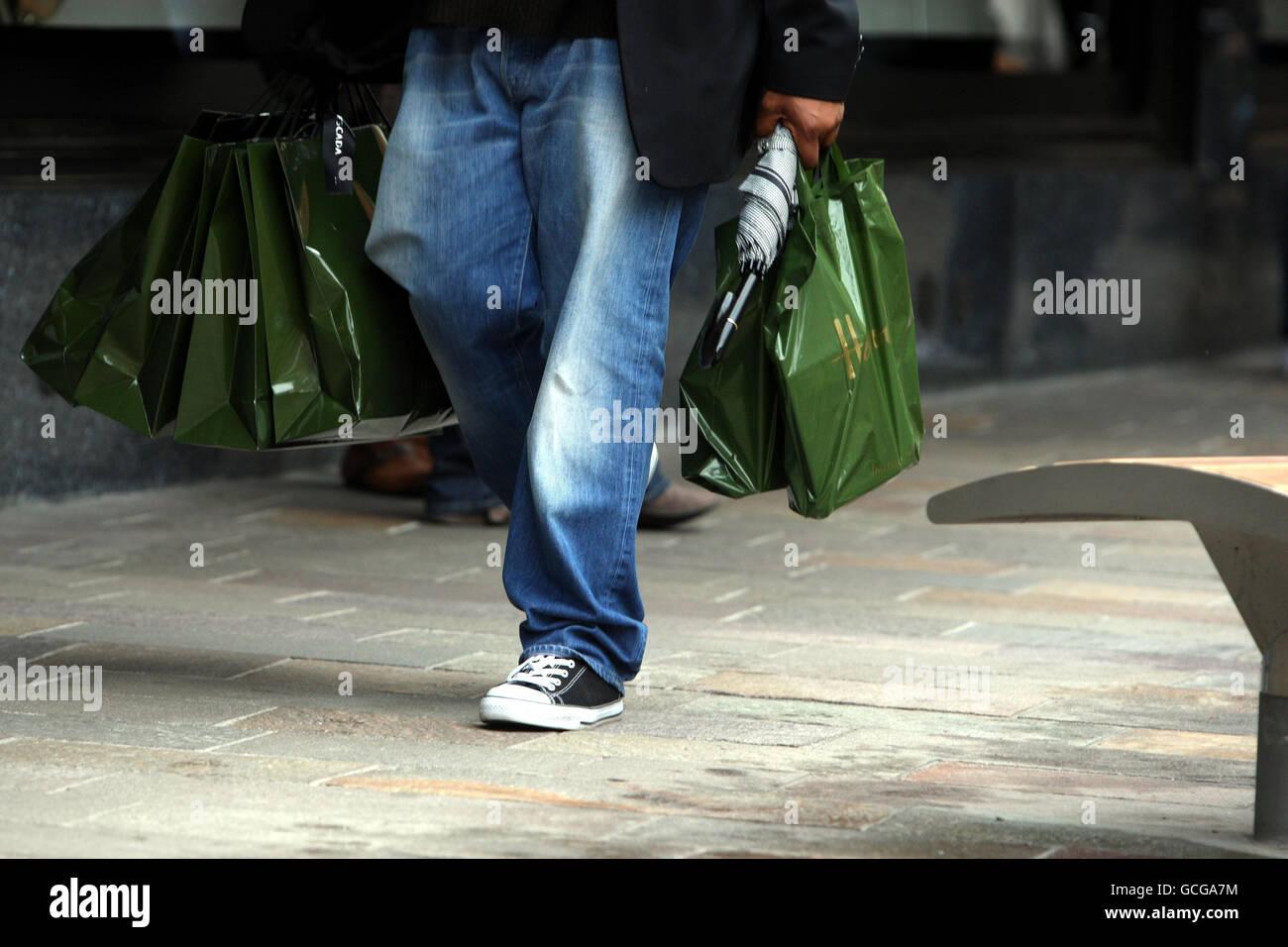 Harrods Shopping Bags Fotos e Imágenes de stock Alamy