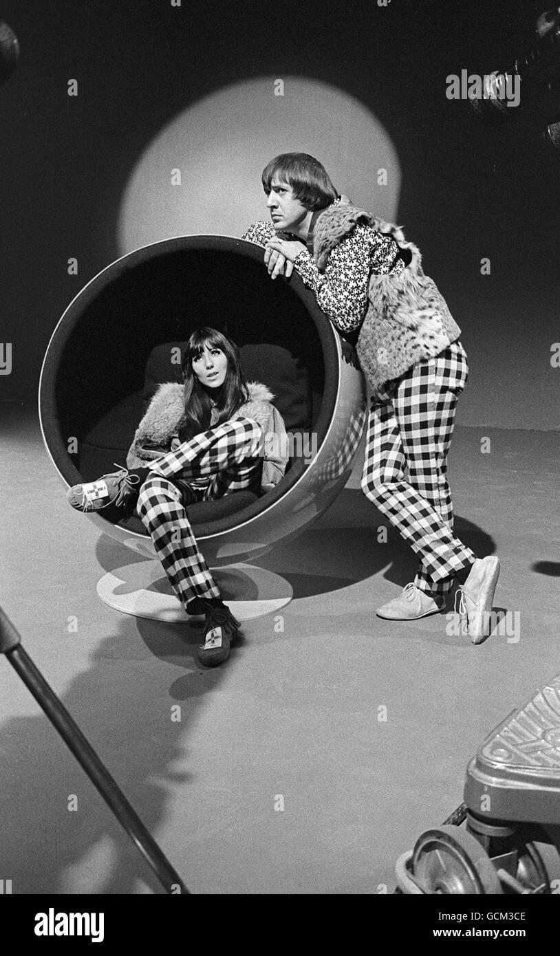 Nosotros Artistas de Sonny y Cher Imagen De Stock