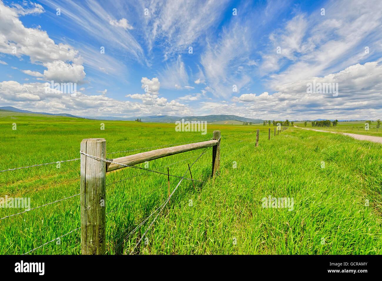 Praderas y grandes cielos, Montana. Imagen De Stock