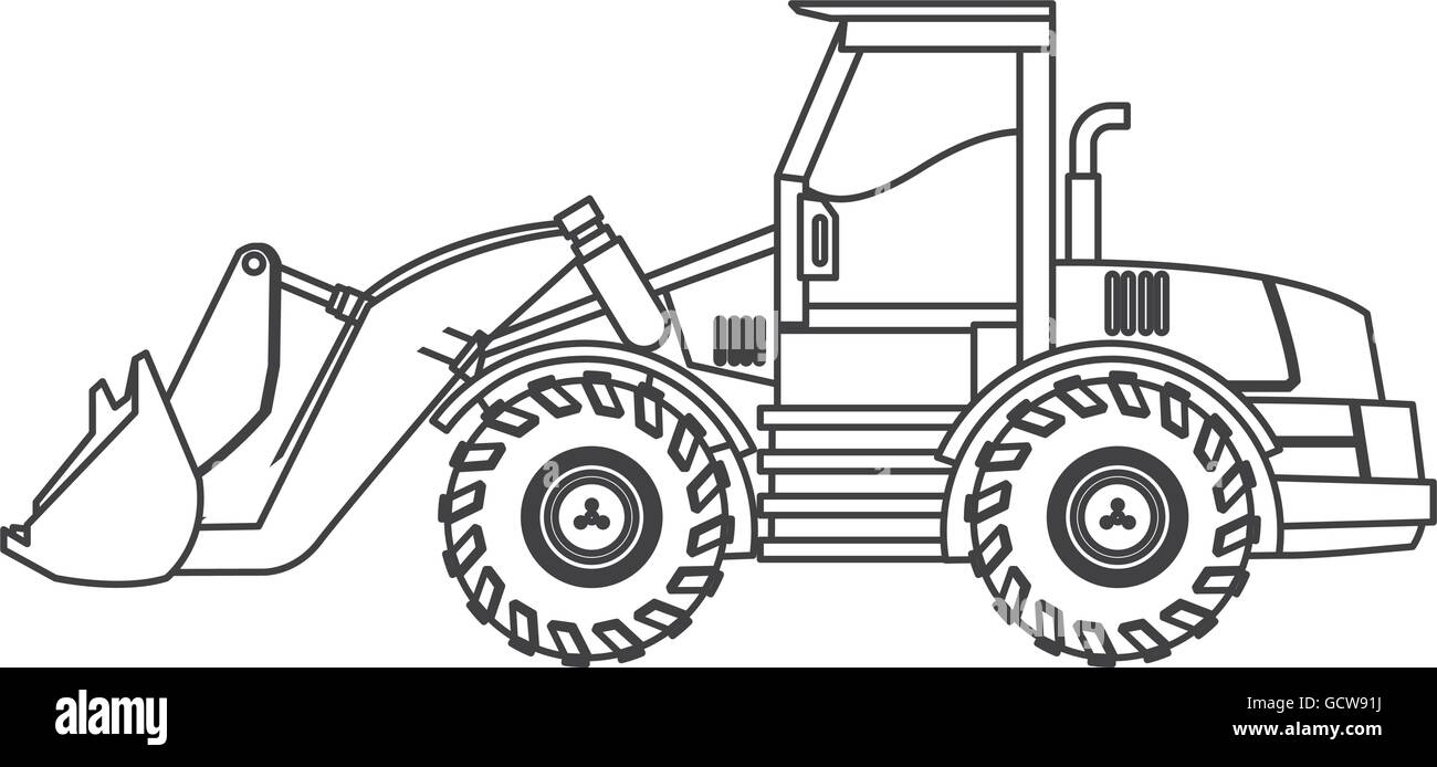 Icono De Máquina Retroexcavadora Ilustración Del Vector