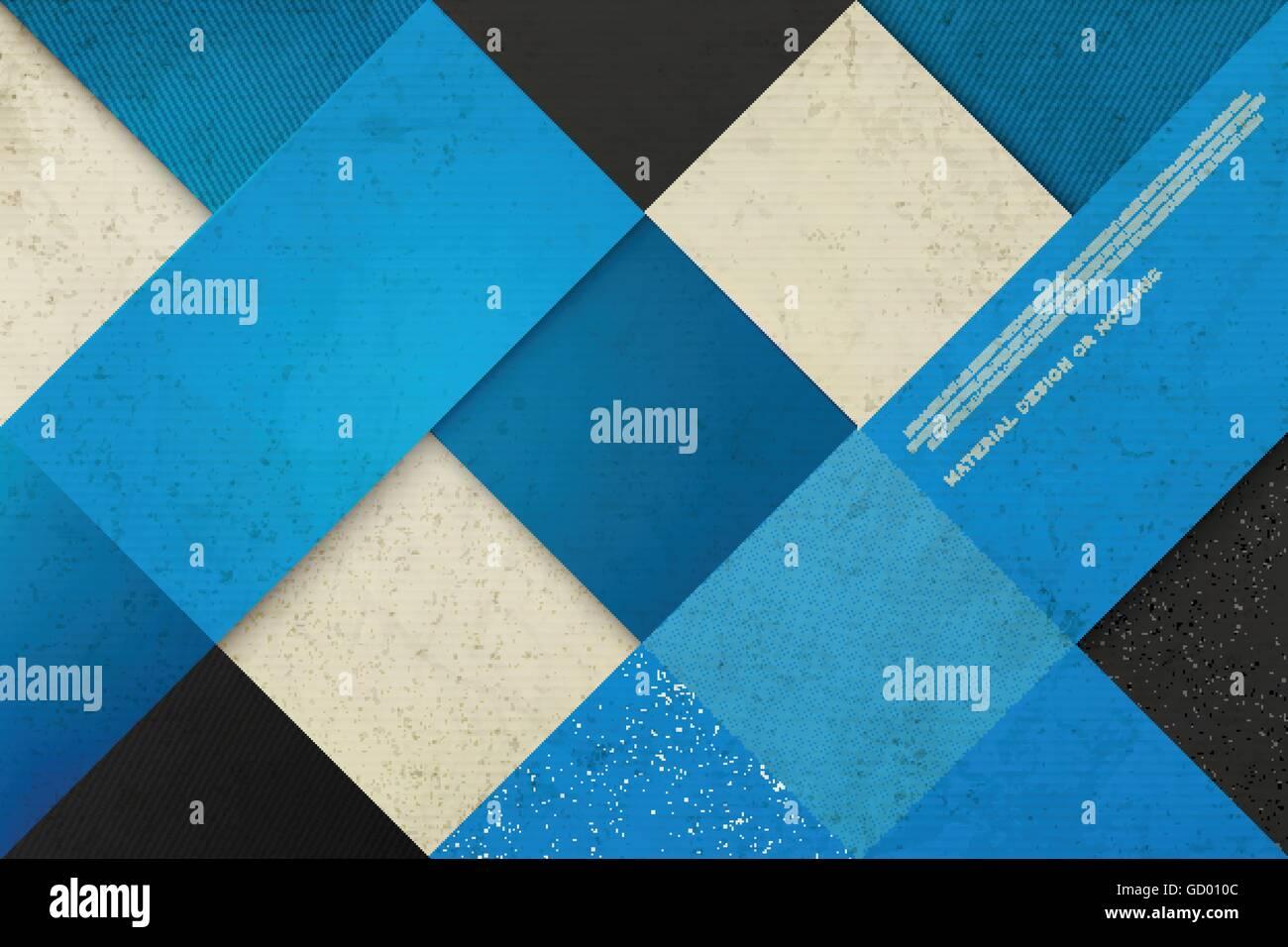 Abstracto Fondo Azul Con Angustiadas Marcos Vector Geométrico