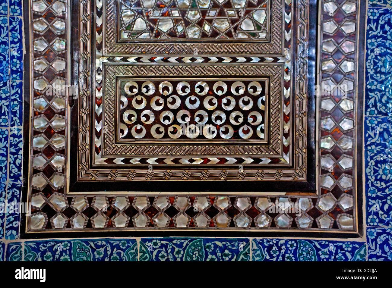 Bellas artes, Imperio Bizantino, adornos en el Palacio de Topkapi, Estambul, el Copyright del artista no ha de ser borrado Foto de stock