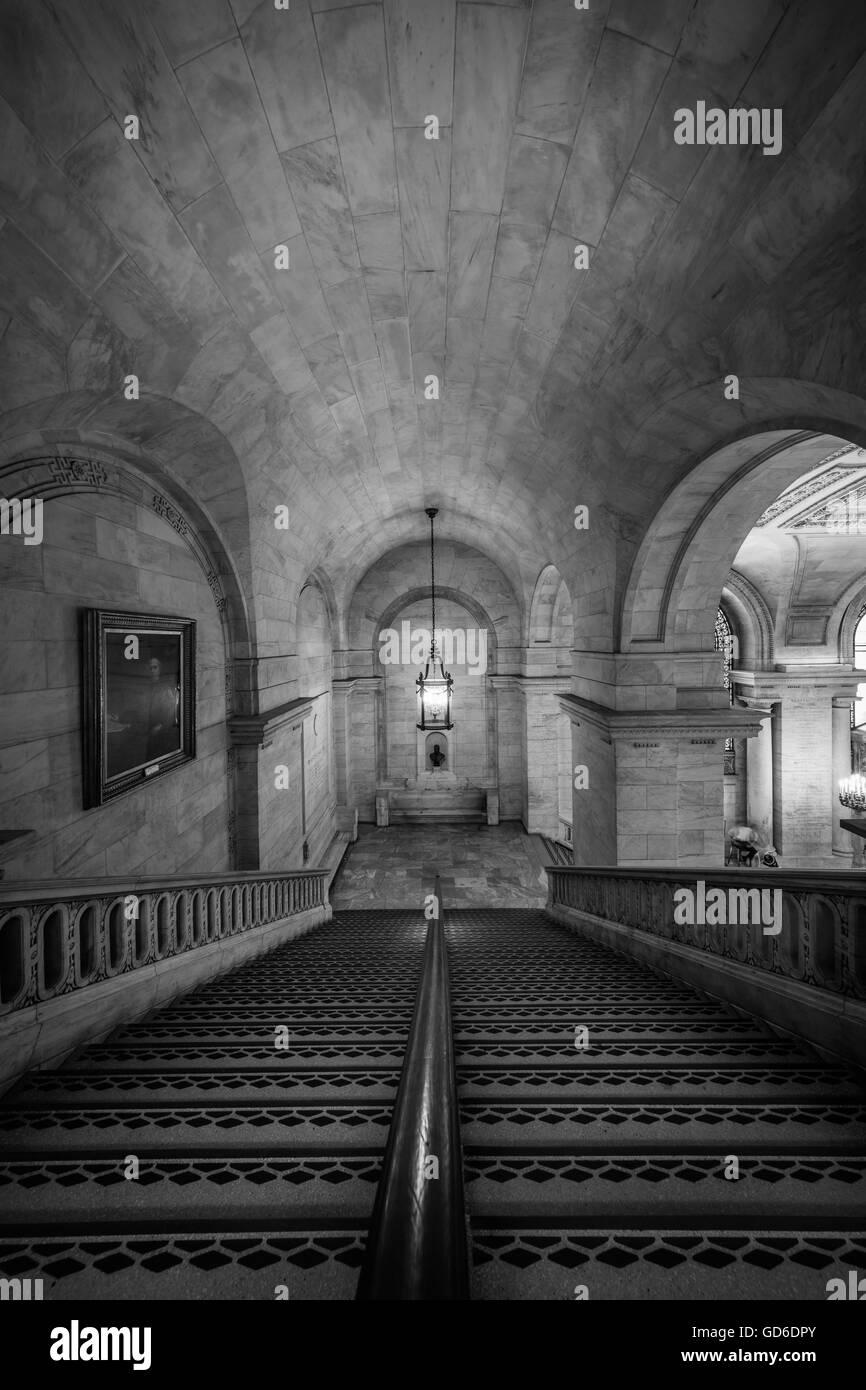 La Biblioteca Pública de Nueva York (NYPL) es un sistema de bibliotecas públicas de la ciudad de Nueva Imagen De Stock