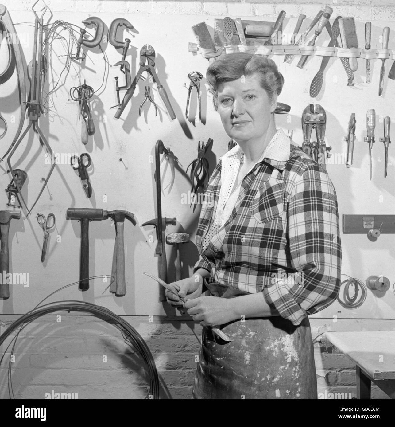 Mary Callery, escultor, 1950. Imagen De Stock