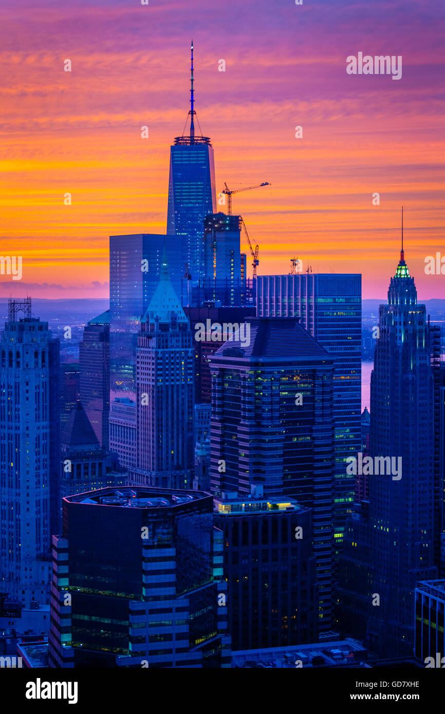 La Lower Manhattan, también conocido como el centro de Manhattan, es la parte sur de Manhattan, en la Ciudad Imagen De Stock
