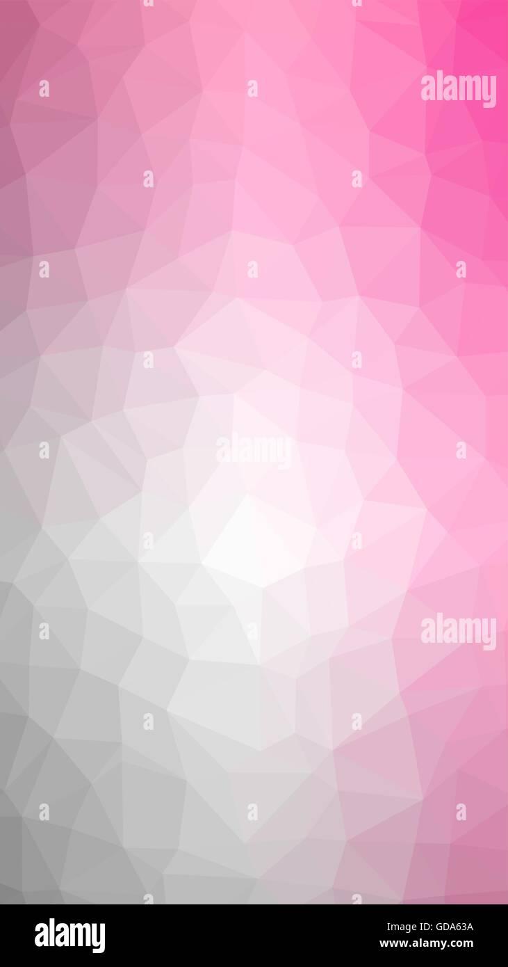 Mosaico geométrico mosaico con triángulos rosados y grises. Resumen ...