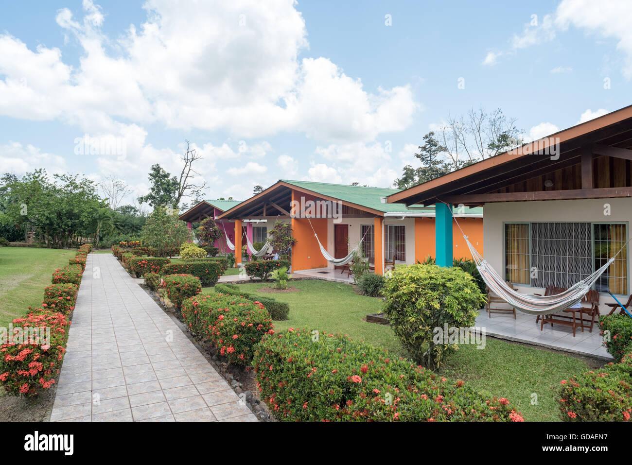 Costa Rica, Alajuela, San Carlos, Alojamiento en La Fortuna. Imagen De Stock