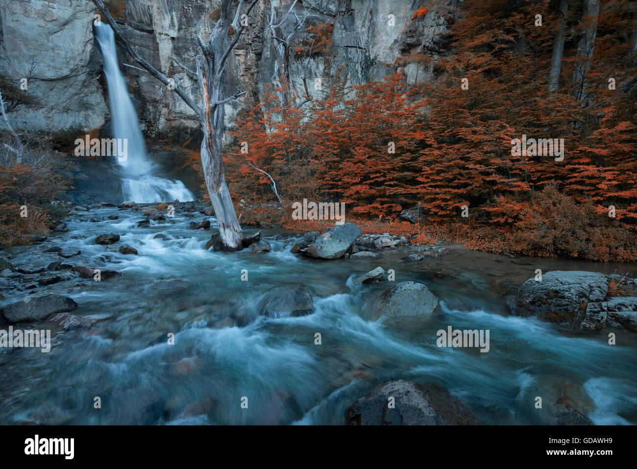 América del Sur,Patagonia,Argentina,Santa Cruz,El Chalten,,Parque Nacional Los Glaciares, Patrimonio Mundial de la UNESCO ,,Fitz Roy,y Foto de stock