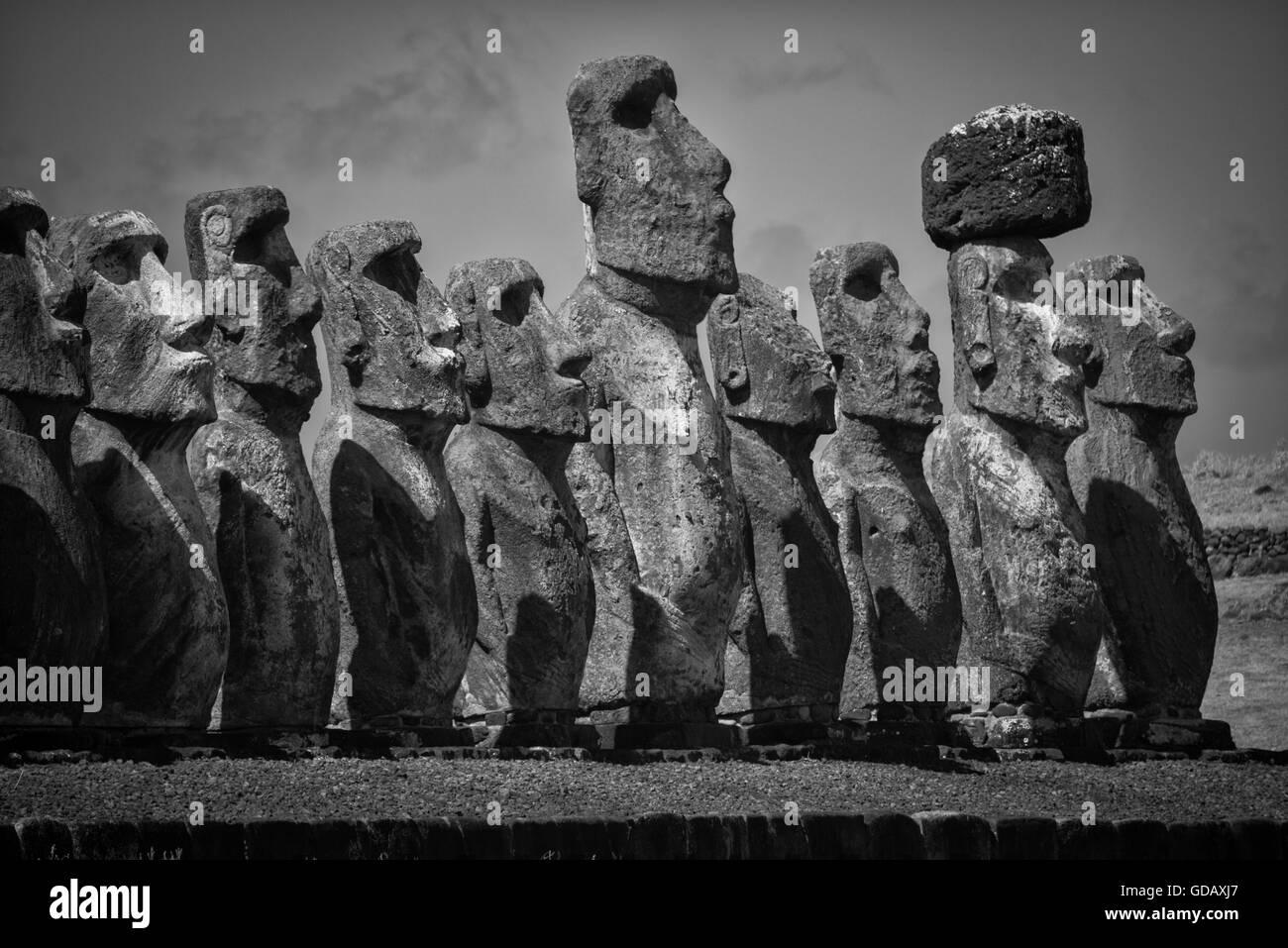 América del Sur, Chile, Isla de Pascua, Isla de Pasqua,pacífico sur,la UNESCO, Patrimonio Mundial, Foto de stock
