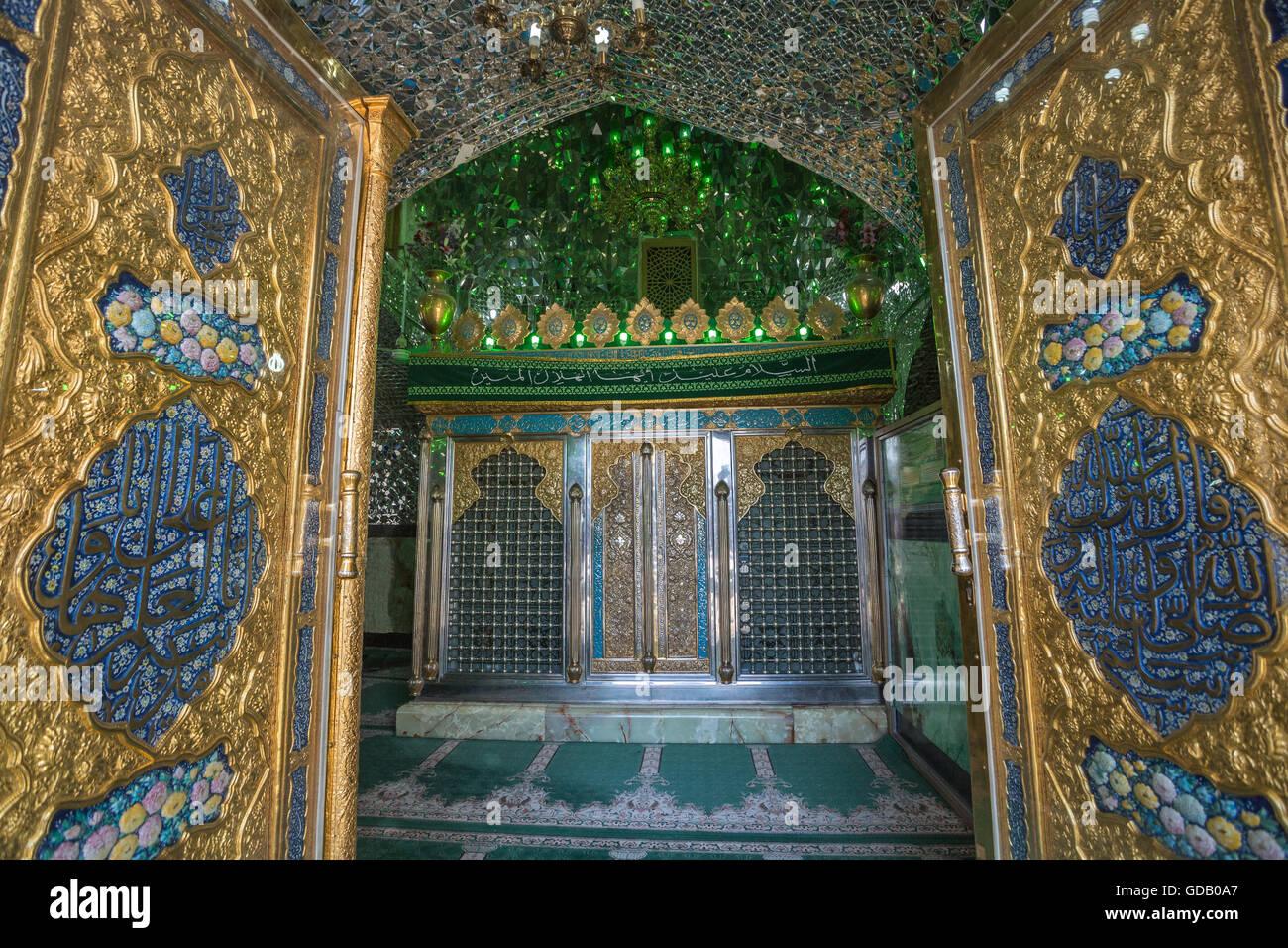 Irán,Aran ciudad (cerca),Koshan Mohamed Helal complejos,Imam Sade mausoleo Imagen De Stock