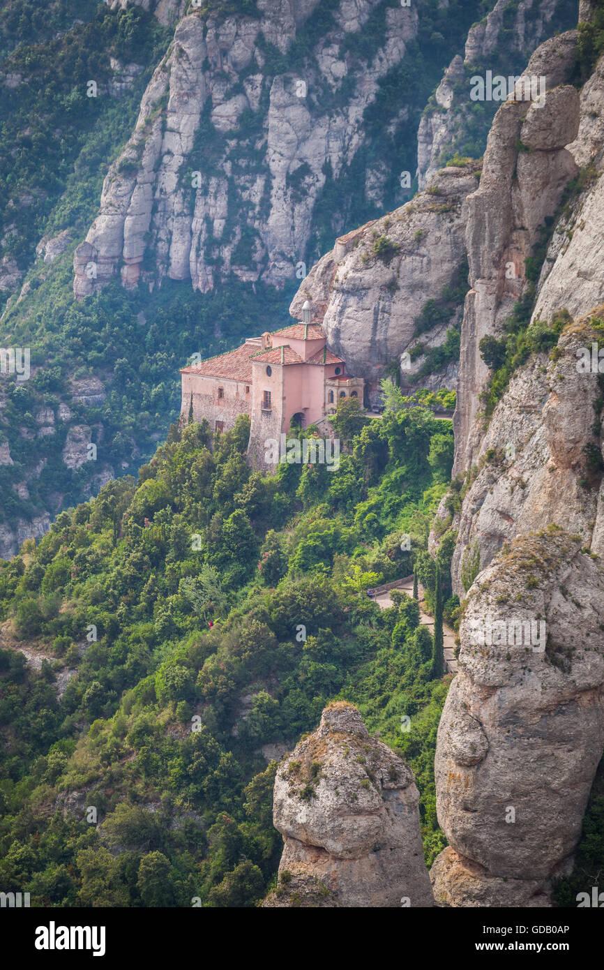 España,Cataluña,la montaña de Montserrat, la Santa Cueva, Imagen De Stock
