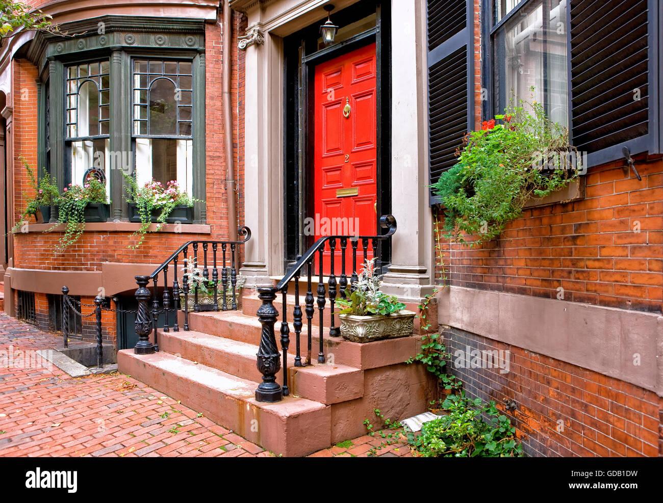 Residencia en Beacon Hill, Boston. Imagen De Stock
