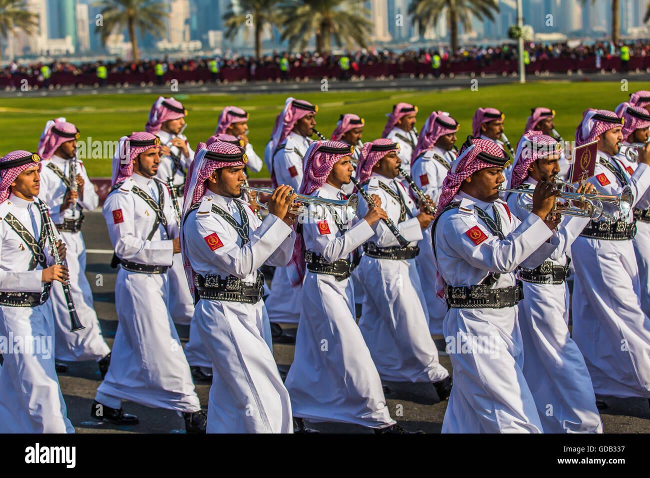 Desfile del Día Nacional de Qatar. Imagen De Stock