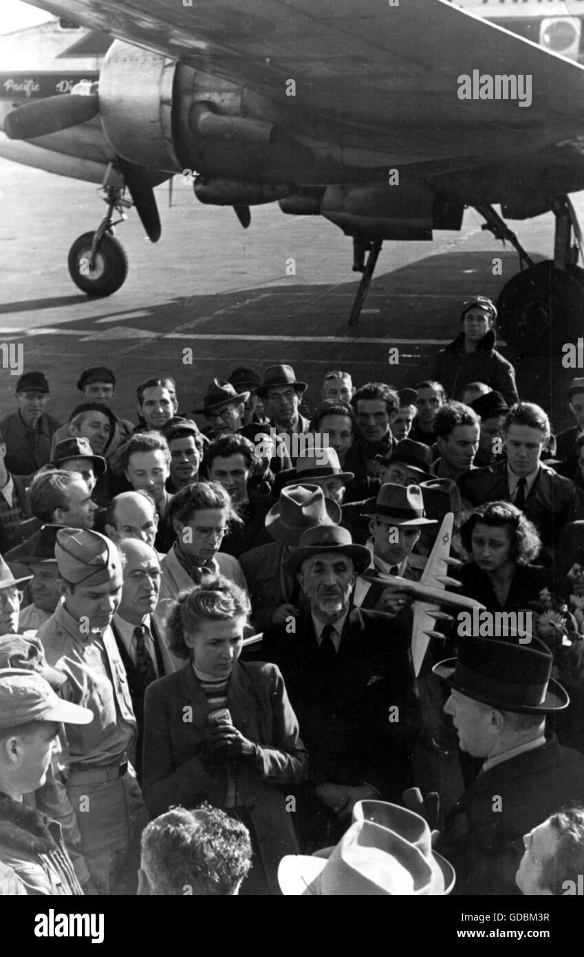 Geografía / viajes, Alemania, bloqueo de Berlín 1948/1949, día 100 del Puente Aéreo de Berlín, Imagen De Stock