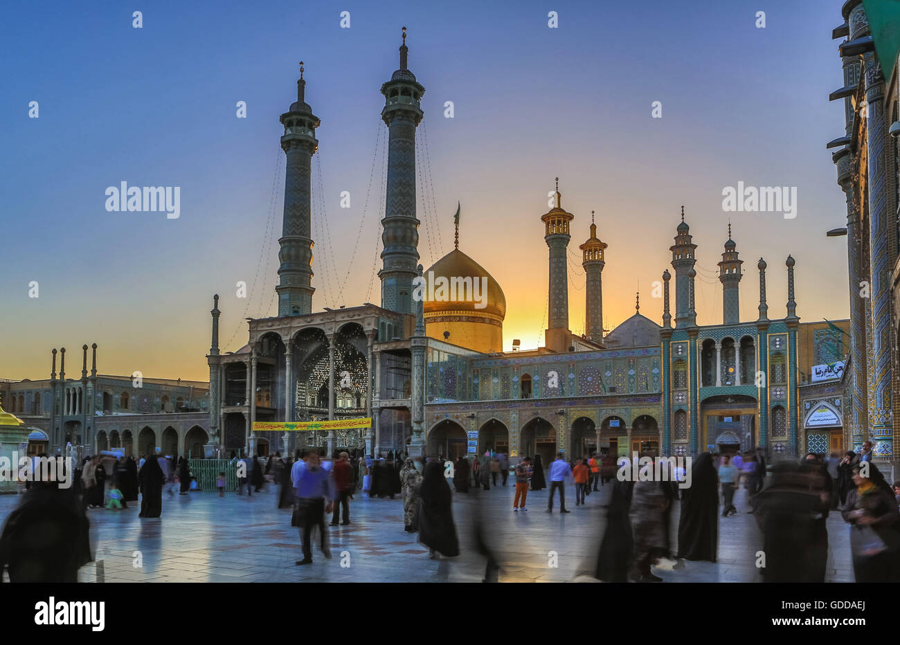 Irán,ciudad de Qom,Hazrat-e Masumeh (Santuario) Imagen De Stock