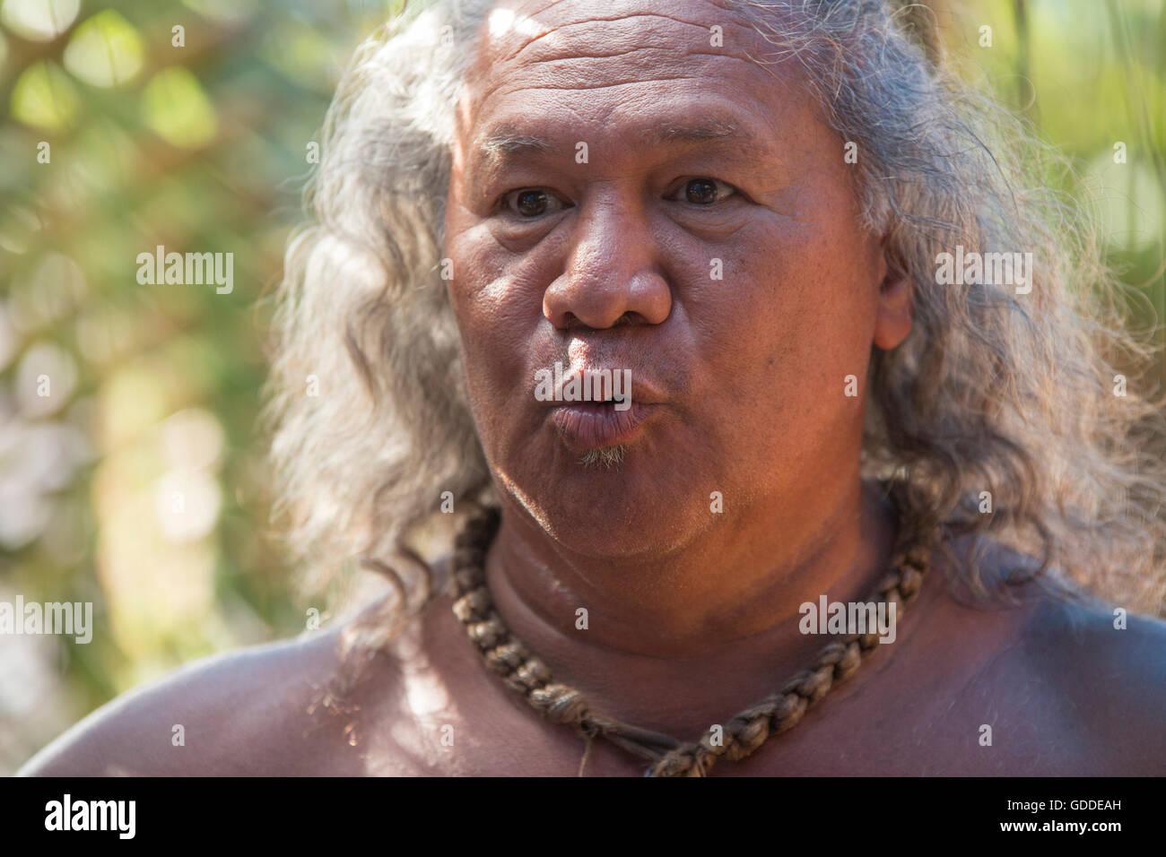 Molokai,local,Polinesios,ningún modelo de liberación,hombre,ESTADOS UNIDOS,Hawaii,Latina,retrato, Imagen De Stock
