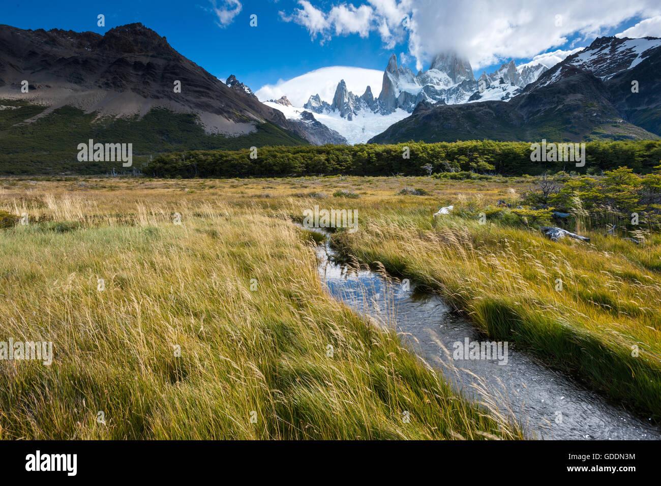 Cerro Fitz Roy,Argentina,Patagonia Foto de stock