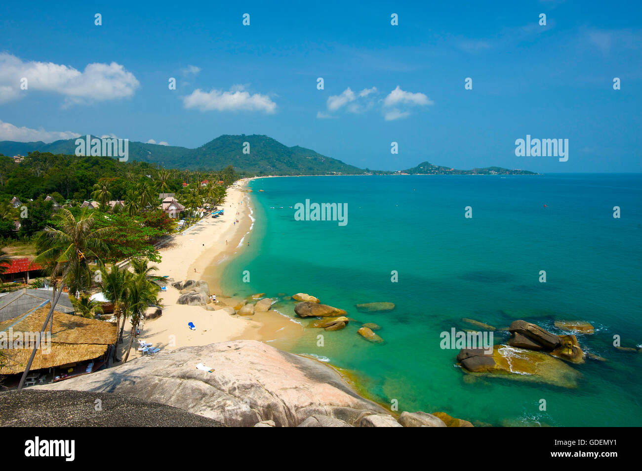 Lamai Beach, Koh Samui, Tailandia la isla Foto de stock