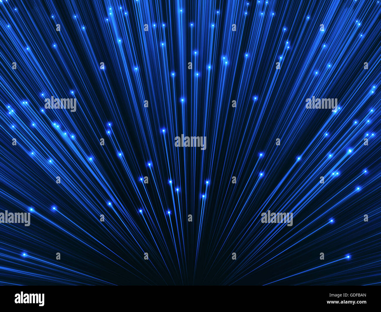 La fibra óptica, la ilustración. Imagen De Stock