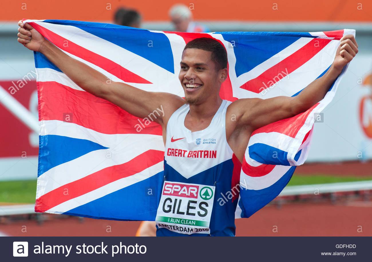Amsterdam, Holanda el 10 de julio último día de los Campeonatos Europeos de Atletismo de 2016 en Amsterdam. Imagen De Stock