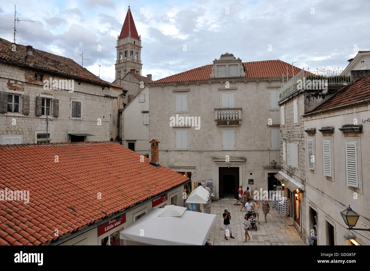 Casco antiguo de la ciudad de Trogir Imagen De Stock