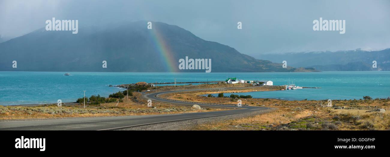 América del Sur, Argentina, Patagonia, Santa Cruz, Puerto Bandara Imagen De Stock