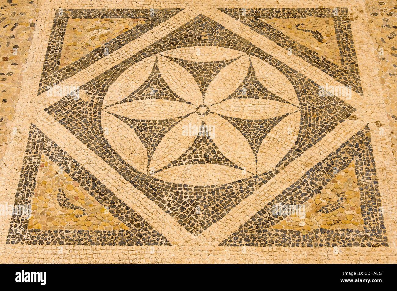 Italia Sicilia Taormina -mosaico helenístico del siglo II A.C. Imagen De Stock