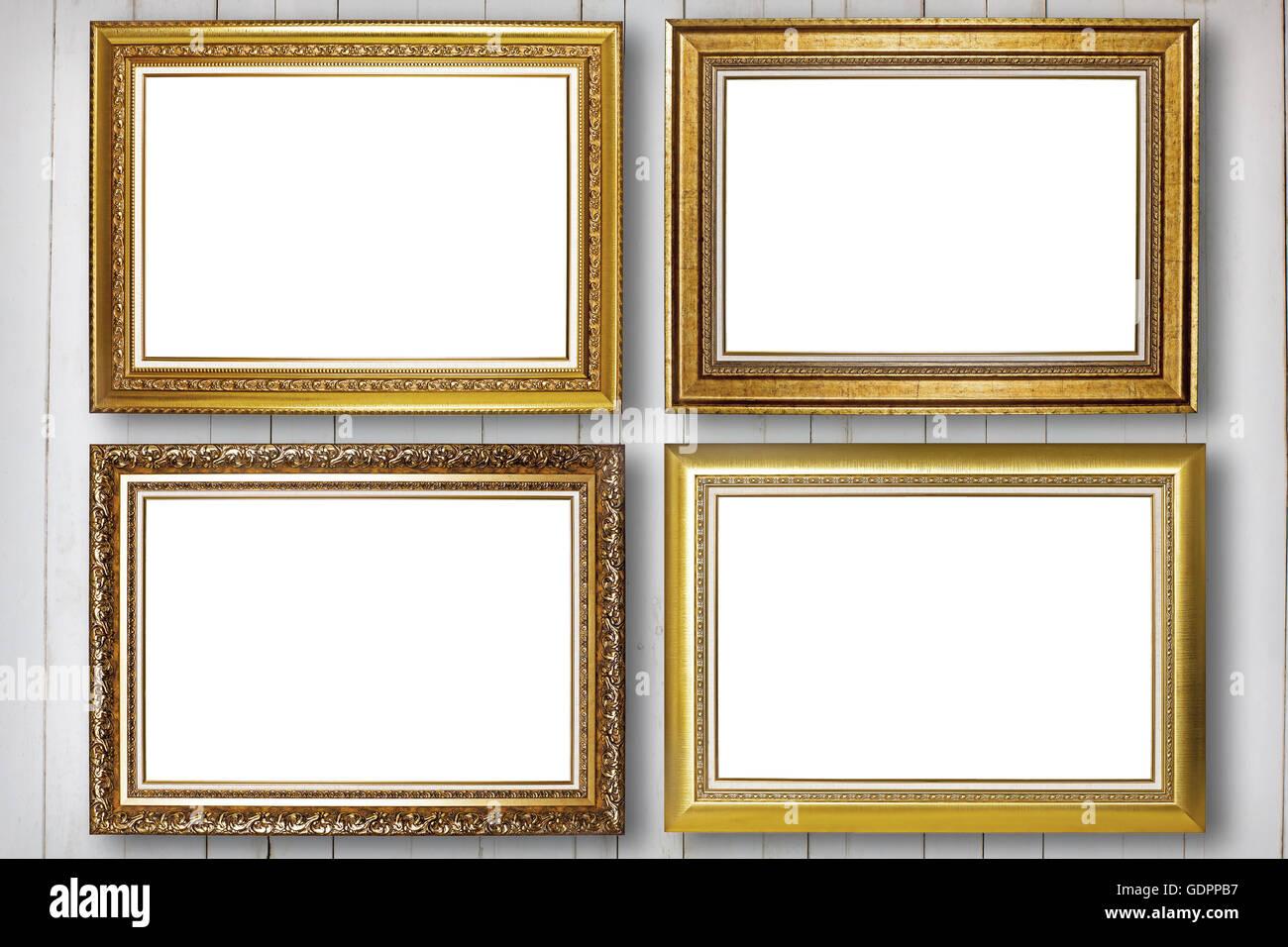 Conjunto de marco de imagen. Foto galería de arte en madera de pared ...