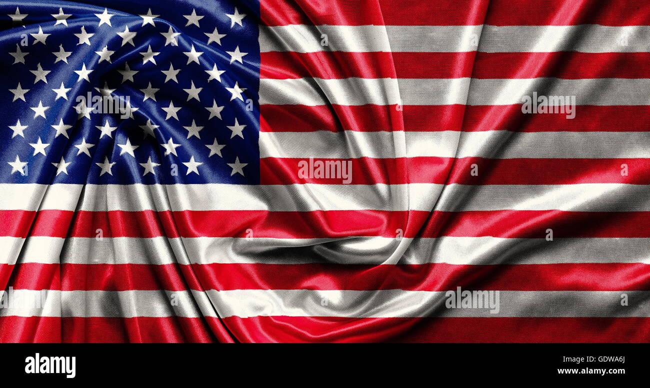 La Bandera Americana Ondeando Tela De Fondo Wallpapers Close Up