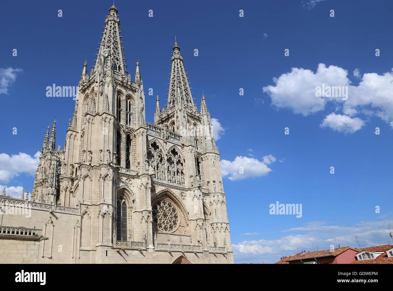 España. Burgos. Catedral de Santa María. De estilo gótico. Fachada de Santa María. Imagen De Stock
